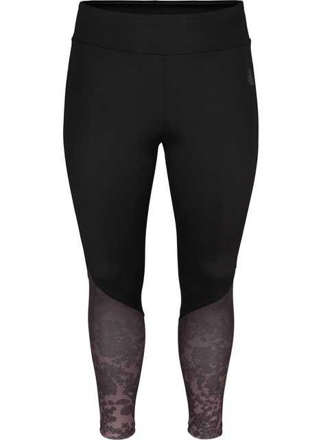 Hosen - Active by ZIZZI Trainingstights Große Größen Damen 7 8 Trainingstights mit Stretch und Print ›  - Onlineshop OTTO