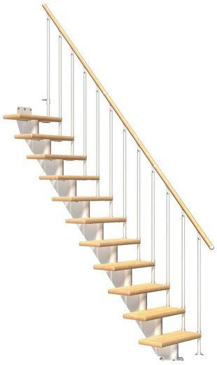 DOLLE Mittelholmtreppe »Frankfurt Birke 65«, bis 301 cm, Metallgeländer, versch. Ausführungen