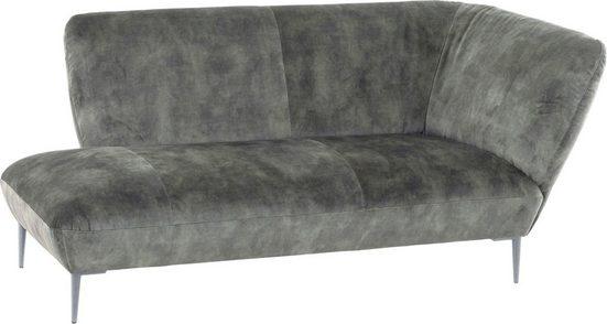 W.SCHILLIG Chaiselongue »Villeroy & Boch ELLA«, Füße Silber matt