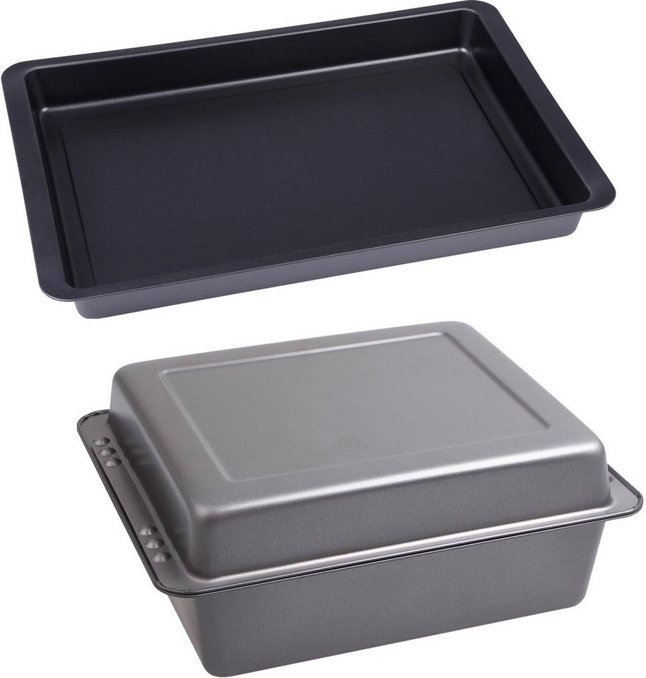 CHG Backform tiefe Ofenform Auflaufform Grillform Emaille Ofen Blech Form tief