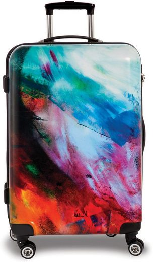 fabrizio® Hartschalen-Trolley »Creative style Abstract, 67 cm, Abstract«, Limited Edition