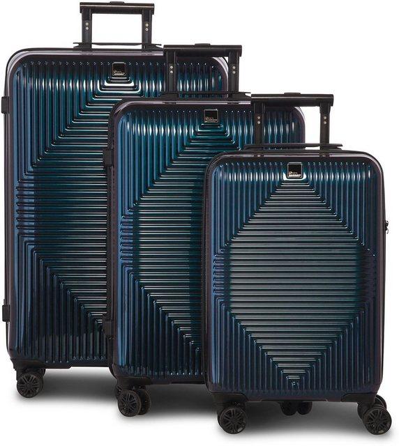 fabrizio® Trolleyset »Avenue, blau«, 4 Rollen | Taschen > Koffer & Trolleys > Trolleys | Abs | fabrizio®