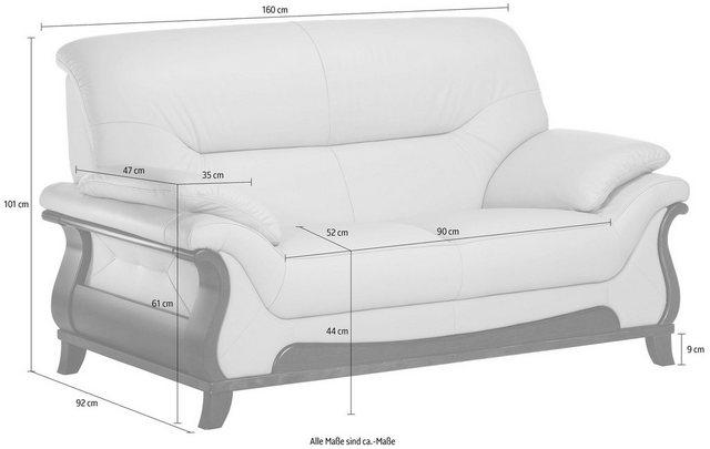 Sofas - DELAVITA 2 Sitzer »Matea«, mit schön geschwungenem Massivholzgestell  - Onlineshop OTTO