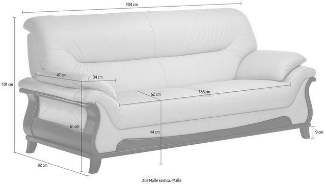 Sofas - DELAVITA 3 Sitzer »Matea«, mit schön geschwungenem Massivholzgestell  - Onlineshop OTTO