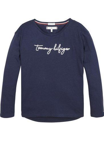 TOMMY HILFIGER Langarmshirt »SEQUINS GRAPHIC TEE«