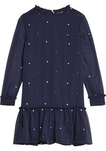 TOMMY HILFIGER A-Linien-Kleid mit Sternendruck