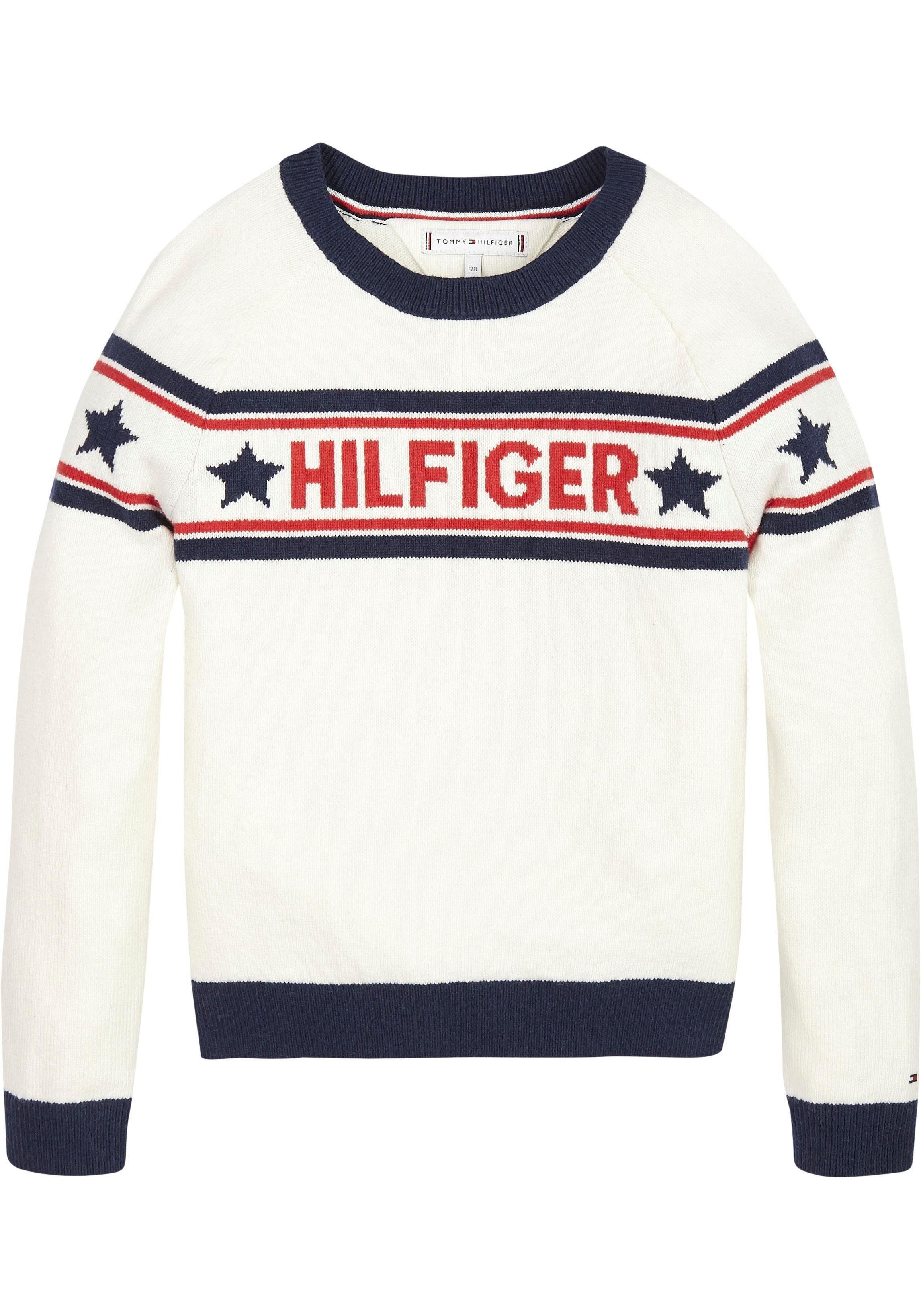 TOMMY HILFIGER Strickpullover »ESSENTIAL HILFIGER STAR« online kaufen | OTTO