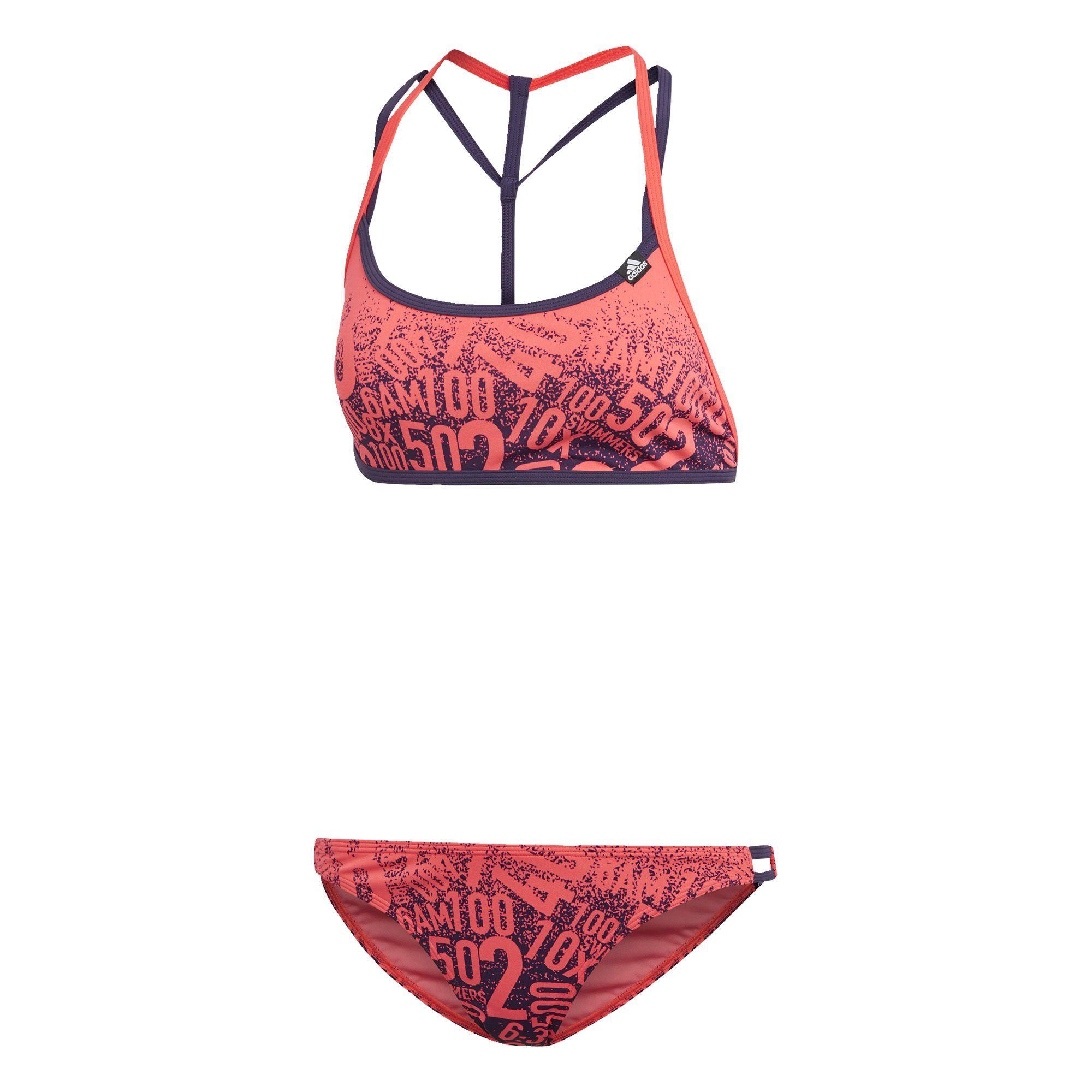 adidas Bustier Bikini Schwarz Grün, Gr.: 38: