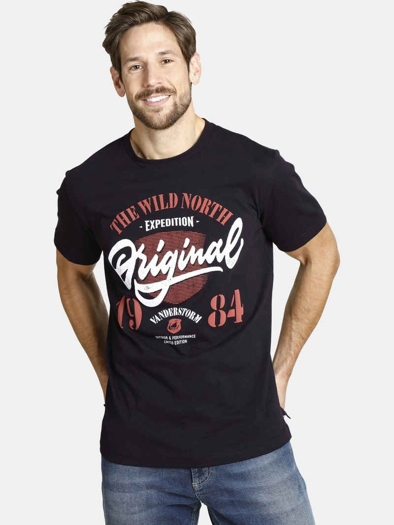 Jan Vanderstorm T-Shirt »DORMOD« erhabener Druck in zwei Farben