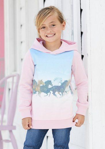 Arizona Longsweatshirt mit Pferdedruck
