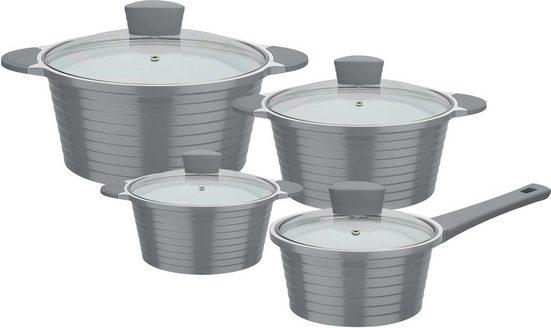 GSW Topf-Set »Bolero«, Aluminiumguss, (Set, 8-tlg), Induktion