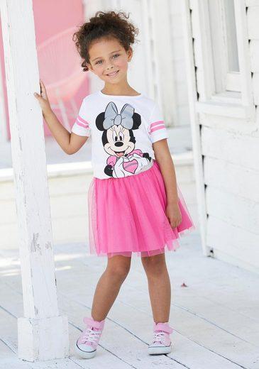Disney Minnie Mouse Shirt & Rock (Set, 2-tlg) mit Minnie Mouse Druck