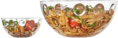 LEONARDO Schale »Cucina Optic«, Glas, (5-tlg), (1 Schüssel, 4 Schälchen)