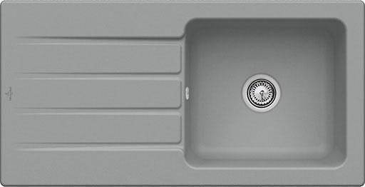 Villeroy & Boch Einbauspüle mit Abtropffläche »Architectura 60«, 100 cm breit | Küche und Esszimmer > Spülen > Einbauspülen | Grau | Villeroy & Boch