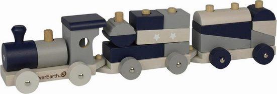 EverEarth® Spielzeug-Eisenbahn »Eisenbahn - Pastell«, FSC®-Holz aus gewissenhaft bewirtschafteten Wäldern