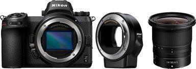 Nikon »Z6 Kit 14-30mm 1:4 S« Systemkamera (NIKKOR Z 14–30 mm 1:4 S, 24,5 MP, Bluetooth, WLAN (Wi-Fi), Mit FTZ Objektivadapter)
