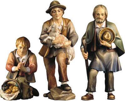 ULPE WOODART Krippenfigur »Drei Hirten« (Set, 3 Stück), Handarbeit, hochwertige Holzschnitzkunst