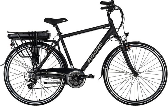 Adore E-Bike »Marseille«, 24 Gang Shimano Altus Schaltwerk, Kettenschaltung, Heckmotor 250 W, Akku PHYLION Li-Ion 37V/13 Ah 481 Wh