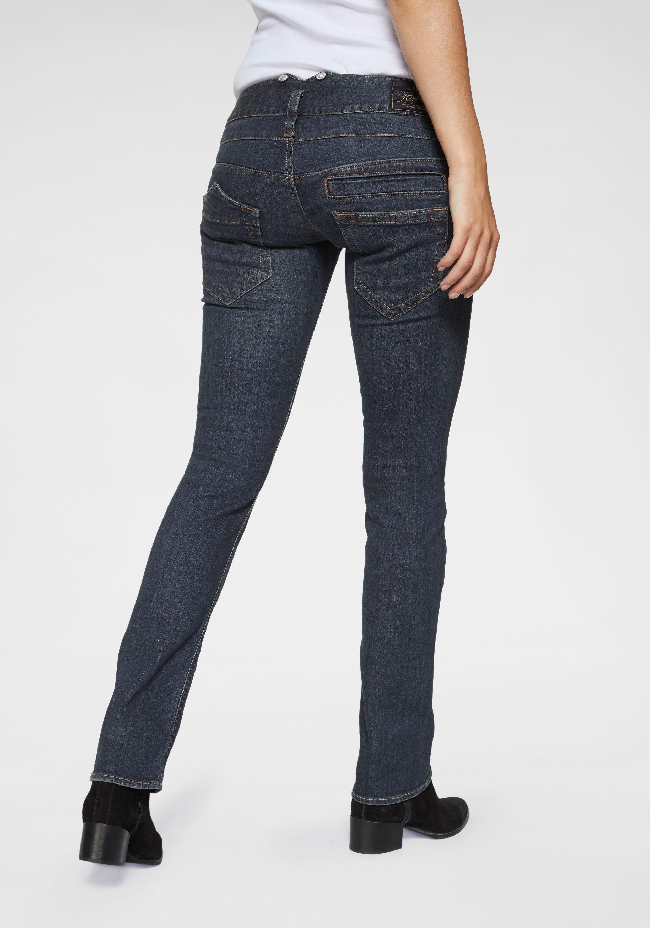 Damen Herrlicher Straight-Jeans »PITCH« Low Waist mit leichtem Push-Up-Effekt  | 04053192759627