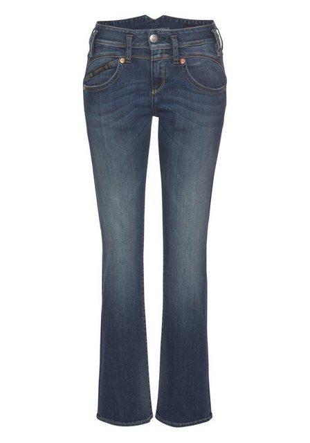 Herrlicher Gerade Jeans »PEARL STRAIGHT« mit Figurstreckender Nahtführung   Bekleidung > Jeans > Gerade Jeans   Herrlicher