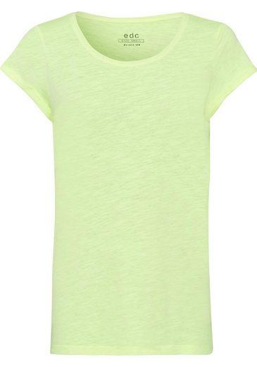 edc by Esprit T-Shirt in melierter Optik