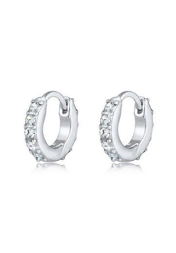 Elli Paar Creolen »Creolen Kristalle 925 Silber«