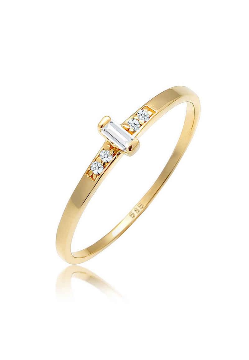 Diamore Verlobungsring »Verlobung Topas Diamant (0.02 ct) 585 Gelbgold«