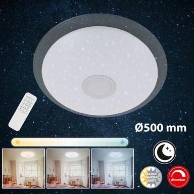 Briloner Leuchten LED Deckenleuchte »Myra«, 1-flammig, Sternenhimmel dimmbar, Lichtsteuerung, Ø 50cm
