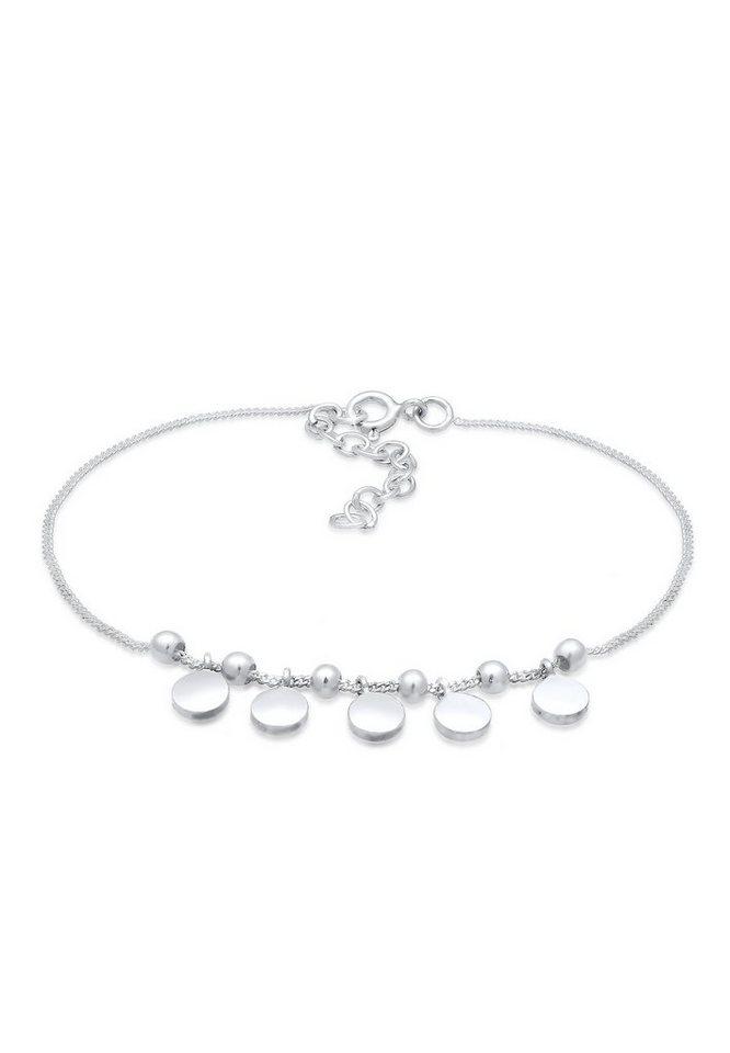 Elli Armband »Geo Kugeln Plättchen Trend Cool Modern 925 Silber« | Schmuck > Armbänder > Silberarmbänder | Elli