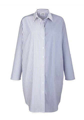AMY VERMONT Ilgi marškiniai im Streifendessin