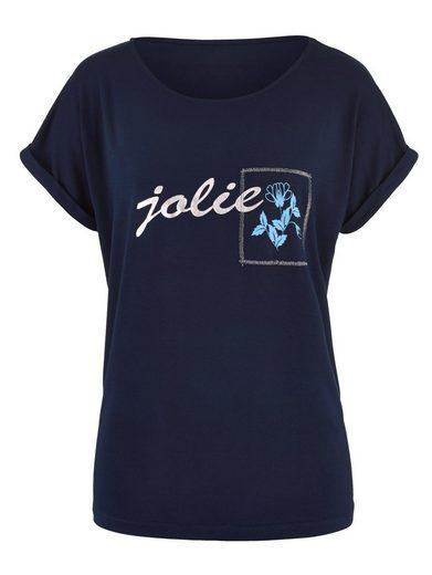 Laura Kent Shirt mit Glanzgarn-Stickerei