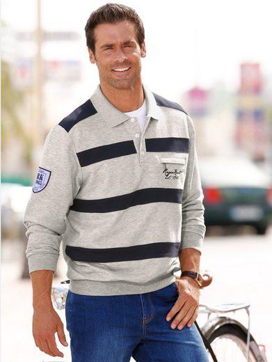 Roger Kent Sweatshirt mit Polokragen