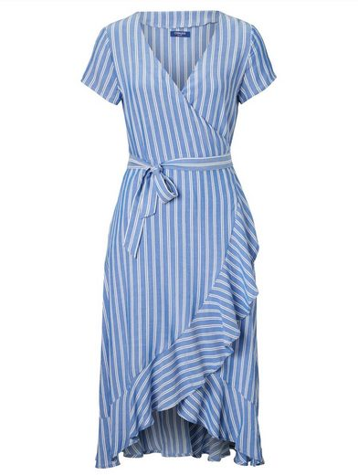 Conleys Blue Kleid in Wickeloptik