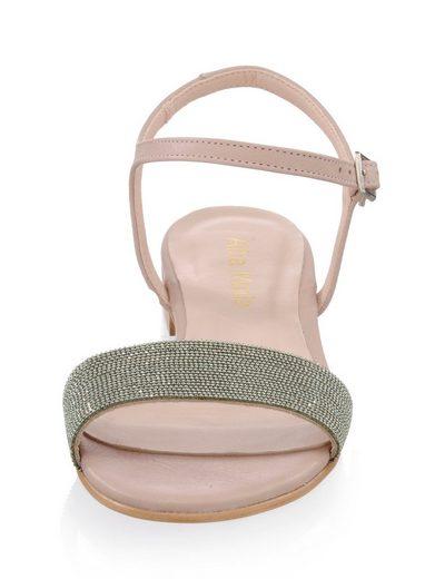 Alba Moda Sandalette mit effektvoll geschmücktem Riemchen