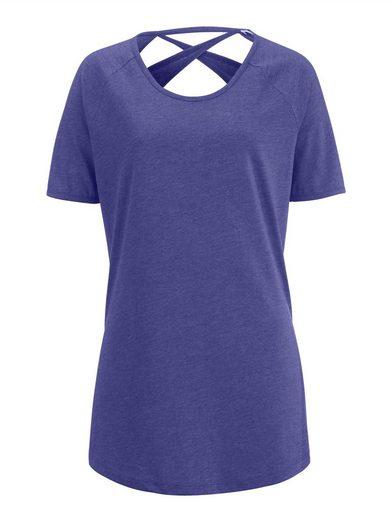 Alba Moda Shirt in Melange-Optik