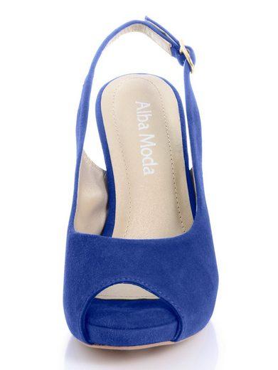 Alba Moda Sandalette aus weichem Veloursleder