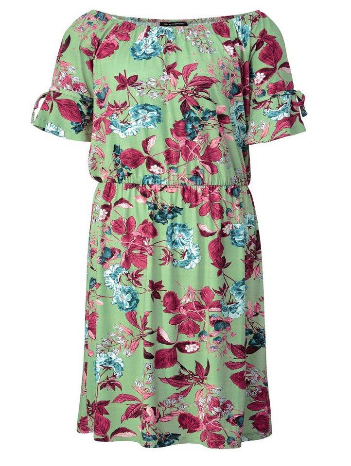 d80e2e7b9c7e05 Sara Lindholm by Happy Size Jersey-Kleid mit Blumen-Print online ...