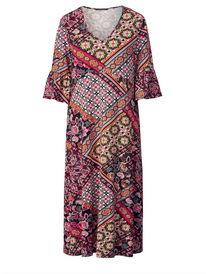 cd688870facd66 Sara Lindholm by Happy Size Jersey-Kleid mit Allover-Print online ...