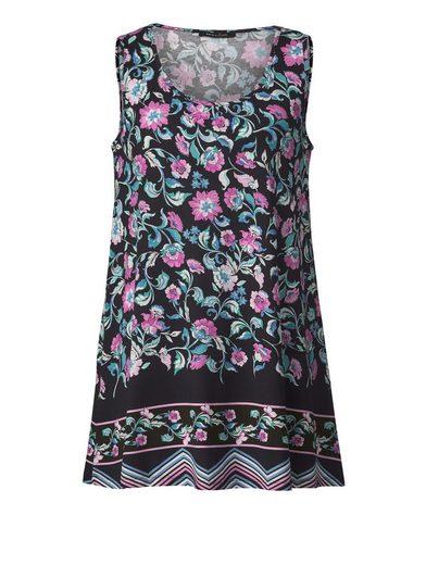 Sara Lindholm by Happy Size Jersey-Longtop mit Blumen-Print