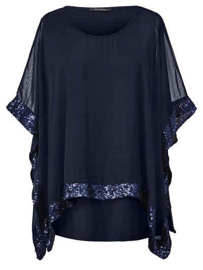 eab0af6fc46bda Sara Lindholm by Happy Size 2-in-1-Shirt mit Pailletten