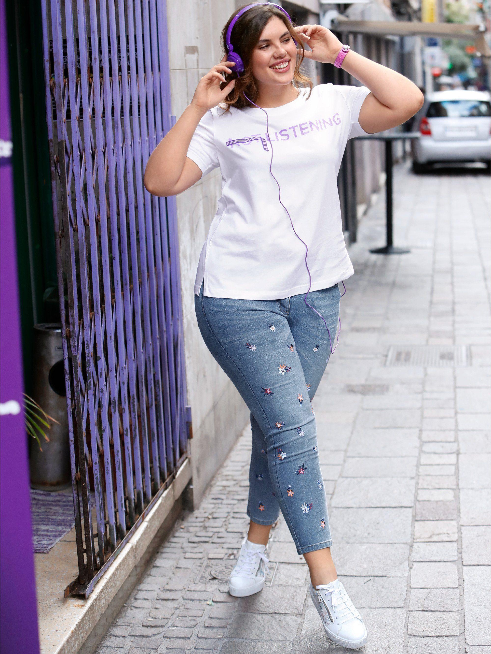 Size Jeans Knöchellang Slim By Happy Of Stickerei Style Mit Fit Online Kaufen Angel TluF1Jc3K