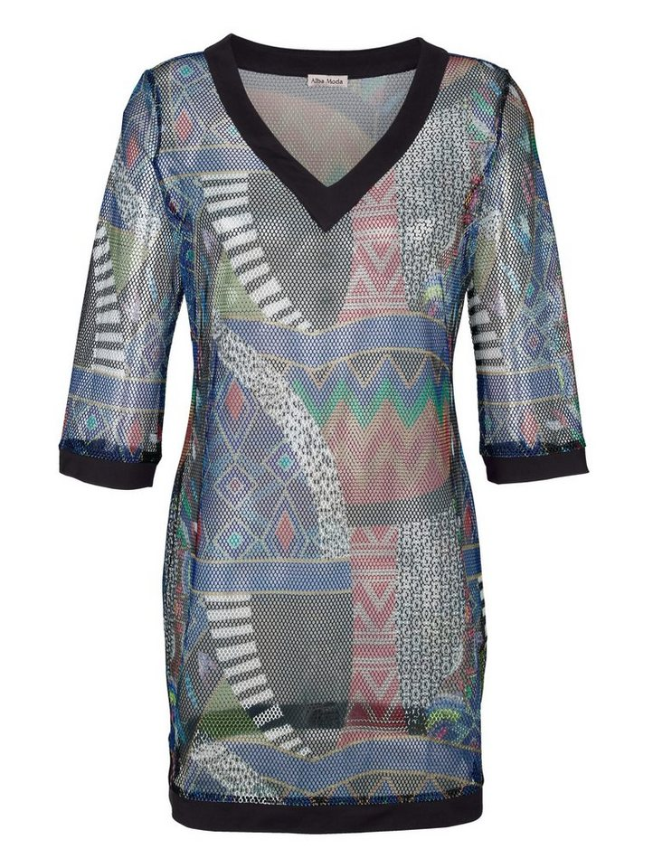 Alba Moda Strandshirt aus Netzmaterial