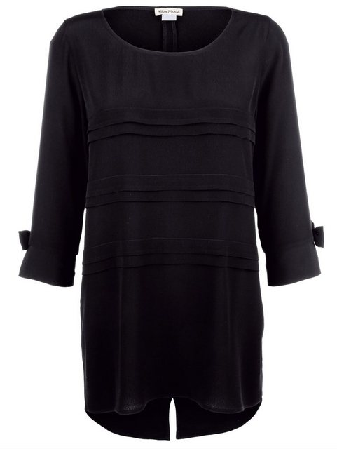 Alba Moda Longbluse mit kleinen Schleifen am Ärmel | Bekleidung > Blusen > Longblusen | Alba Moda