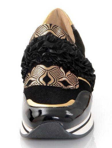 Alba Moda Sneaker mit trendaktuellem gerüschten Band