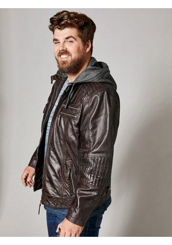 MEN PLUS BY HAPPY SIZE Куртка кожаная