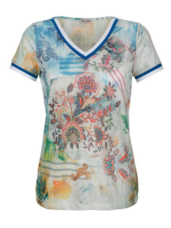 Alba Moda Strandshirt aus Ausbrennerware