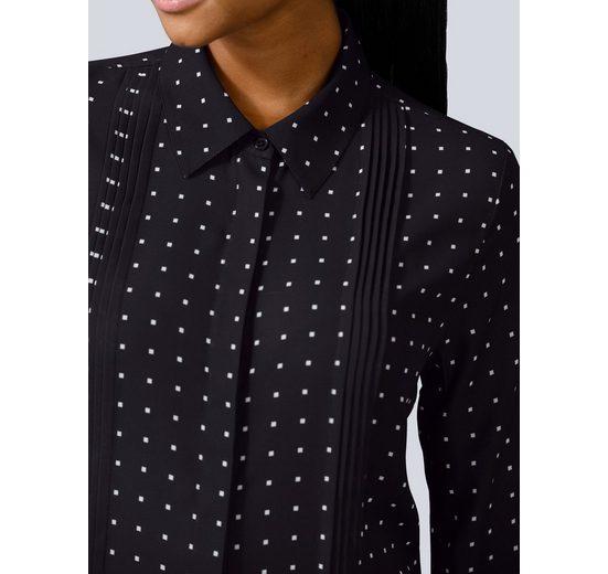 Alba Moda Bluse im grafischen Tupfendessin kaufen