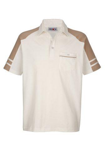 ROGER KENT Polo marškinėliai in bügelleichter kok...