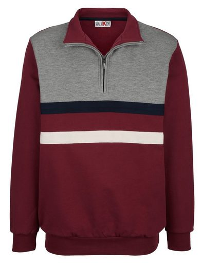 Roger Kent Sweatshirt mit Umlegekragen