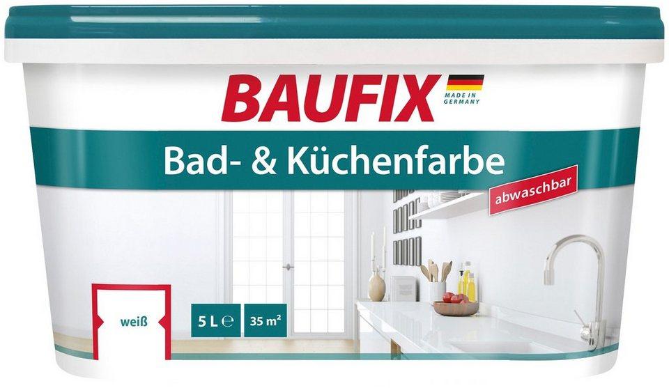 BAUFIX Wand- und Deckenfarbe »Bad und Küchenfarbe«, abwasch- und abtönbar,  5 L online kaufen | OTTO